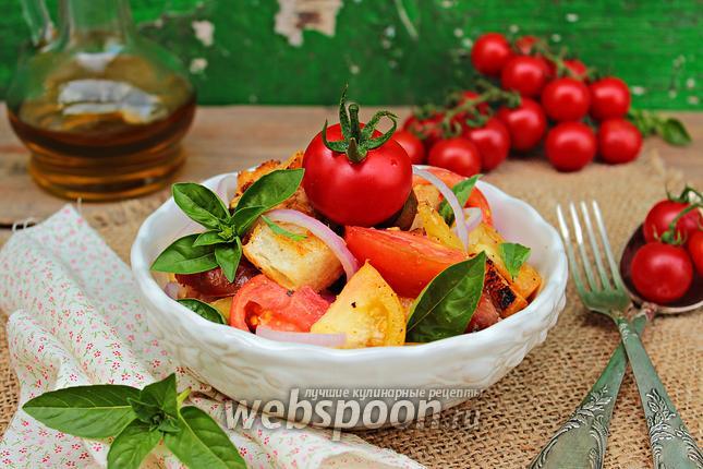 Фото Панцанелла из разных сортов томатов