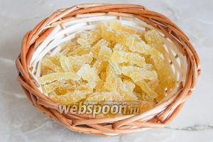 Вот и наши цукатики — они напоминают лимонный мармелад. Это вкусно, сладко и, главное, натурально!