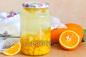 Компот из кабачков с апельсином на зиму