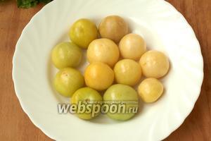 Физалис тщательно промыть от липкого налёта. Вот так выглядят плоды овощного физалиса.