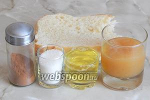 Итак, для приготовления грушевого суфле в хрустящей корочке нам понадобятся: грушевое (яблочное) пюре (можно взять замороженное), яичные белки, сахар-песок, корица молотая и белый хлеб (булка, батон, бисквит).