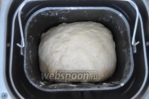 После окончания цикла тесто выглядит так.
