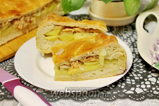 Фото Дрожжевой пирог с горбушей