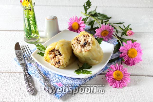 Фото Перец фаршированный грибами и курицей в мультиварке
