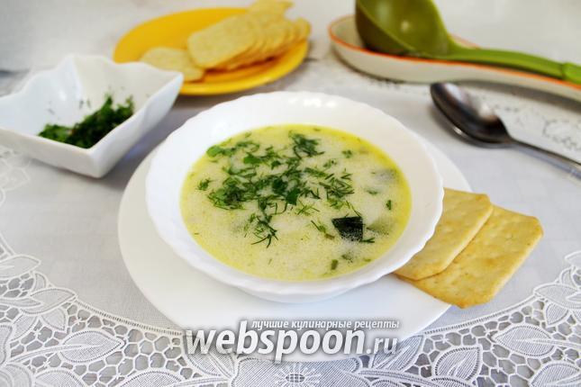 Фото Сливочный суп с курицей и цукини