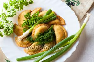 Пирожки с луком по-гречески