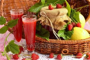 Яблочно-малиновый сок на зиму