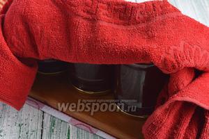 Сразу же разлить в стерилизованные банки, закатать крышками и перевернуть вверх дном. Накрыть толстым махровым полотенцем и оставить до полного остывания.
