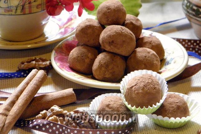 Фото Трюфели с грецкими орехами