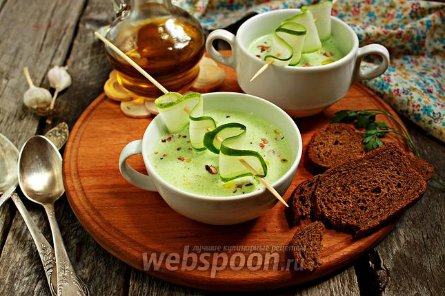 Фото Холодный огуречный суп