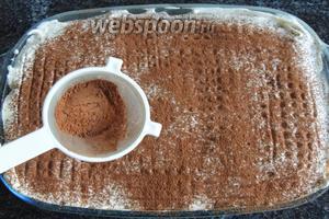 Перед сервированием припудрим какао, если любите какао, то побольше, не стесняйтесь.