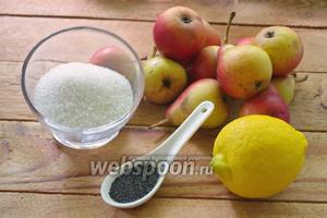 Для приготовления варенья необходимо: груши, сахар, лимон, мак.