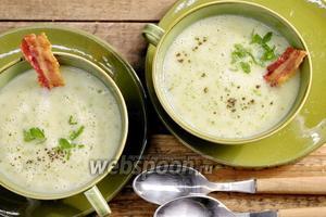 Картофельный суп-пюре с копченостями