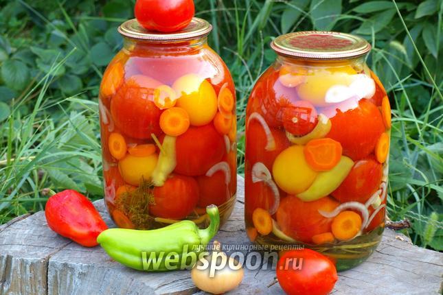 Фото Маринованные помидоры ассорти
