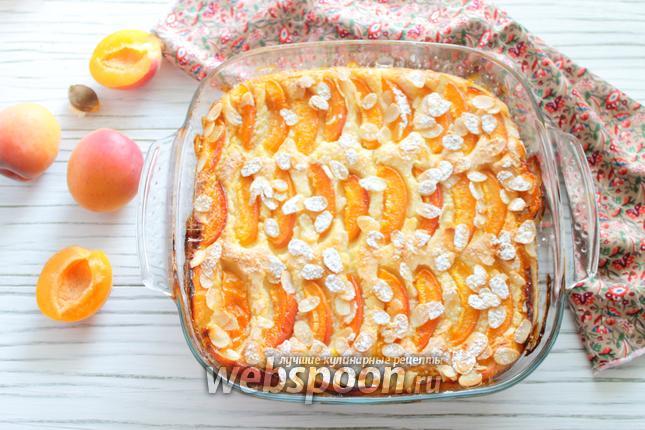Фото Манная запеканка с абрикосами