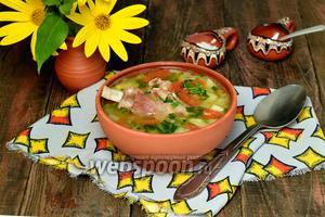 Суп с бараньими рёбрышками и чечевицей в мультиварке