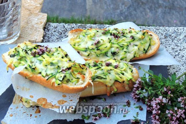 Фото Багет с цукини и сыром