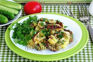 Картофель, запечённый с боровиками, по-русски
