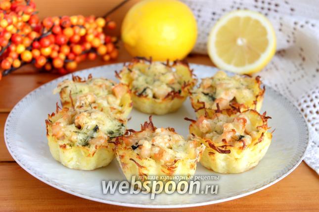 Фото Тарталетки из картофеля с куриным филе