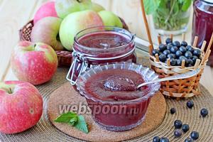 Яблочный джем с чёрноплодной рябиной