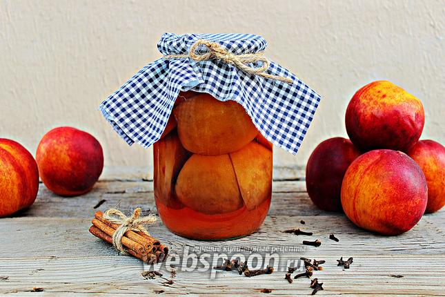 Фото Компот из персиков на зиму