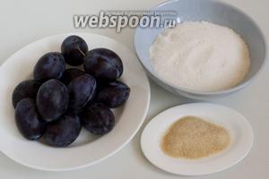 Подготовьте необходимые продукты из пропорций указанных на 1 кг слив.