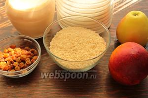 Для вкусной рисовый каши, надо: рис (можно любой круглый), молоко, сахар, фрукты, масло, изюм.