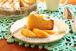 Кекс-пирог с персиками