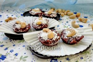 Шоколадные конфеты с мятой и кешью