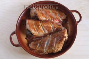 Морской окунь в устричном соусе готов! Подавайте его горячим, с рисом или любым другим гарниром. Приятного аппетита!