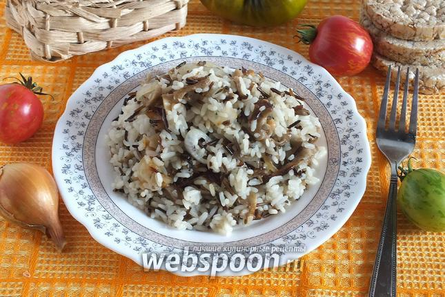 Фото Рисовый гарнир с вёшенками и тимьяном