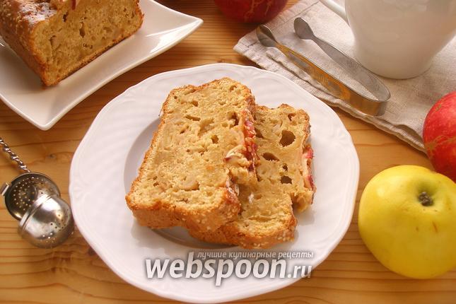 Фото Яблочный кекс с кунжутом