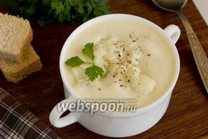 Суп-пюре из цветной капусты с манкой