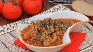 Фото рецепта Куриное филе с фасолью в мультиварке