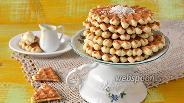 Фото рецепта Кокосовые вафли