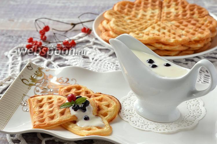 Фото Нежные йогуртовые вафли