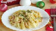 Фото рецепта Паста в соусе из цветной капусты и ветчины