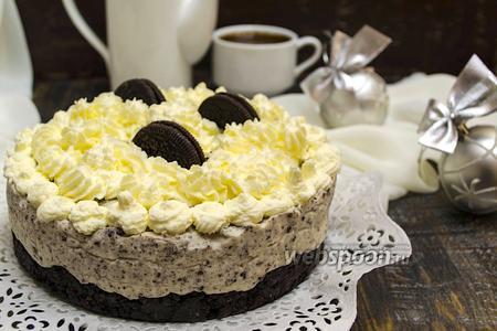 Торт без выпечки с печеньем «Орео»