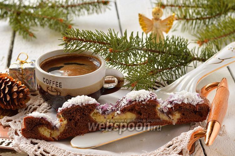 Фото Шоколадно-кокосовый пирог «Снежный ангел»