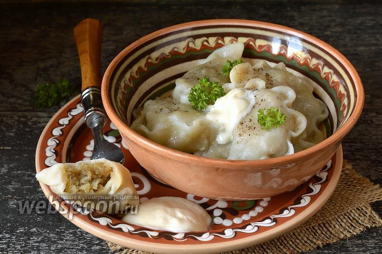 Фото Вареники с жареной картошкой
