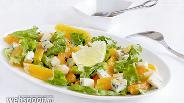 Фото рецепта Зимний салат с апельсином