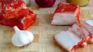 Фото рецепта Пикантное вареное солёное сало