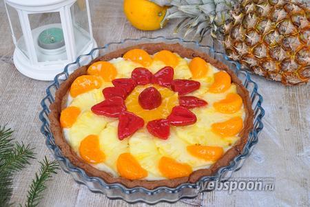 Шоколадно-фруктовый тарт