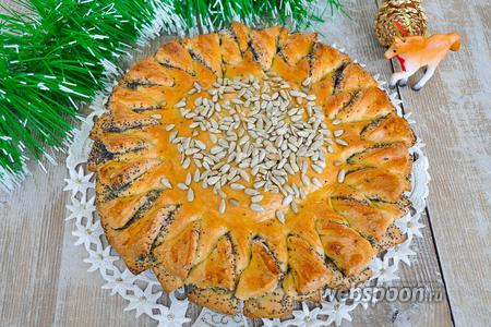 Пирог-подсолнух