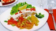 Фото рецепта Сёмга под сливочно-сырным соусом