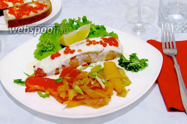 Фото Сёмга под сливочно-сырным соусом