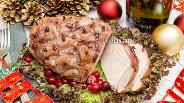 Фото рецепта Свинина, запечённая с мёдом и вишнёвым вареньем