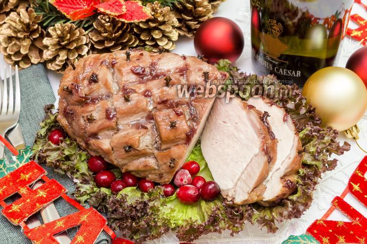 Фото Свинина, запечённая с мёдом и вишнёвым вареньем