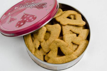 Печенье разложить в коробки. Хранить в сухом месте в течение месяца. Подавать к чаю.