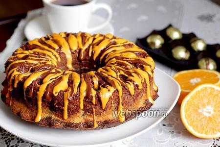 Шоколадно-маковый кекс